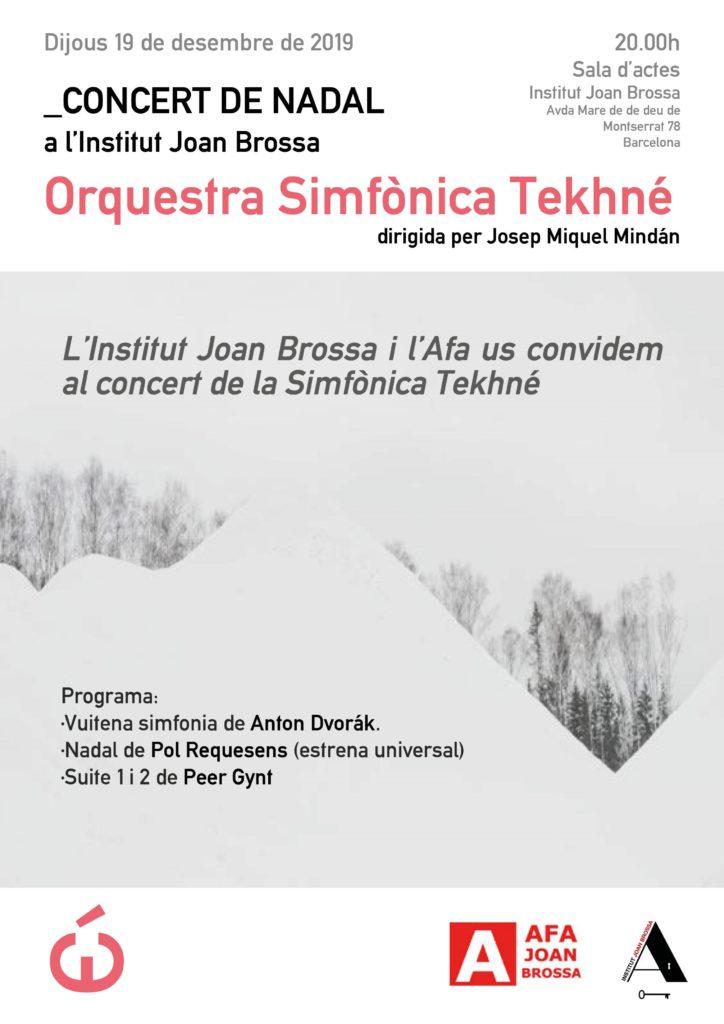 Cartell del concert Dijous 19 de desembre de 2019 a les 20 h.